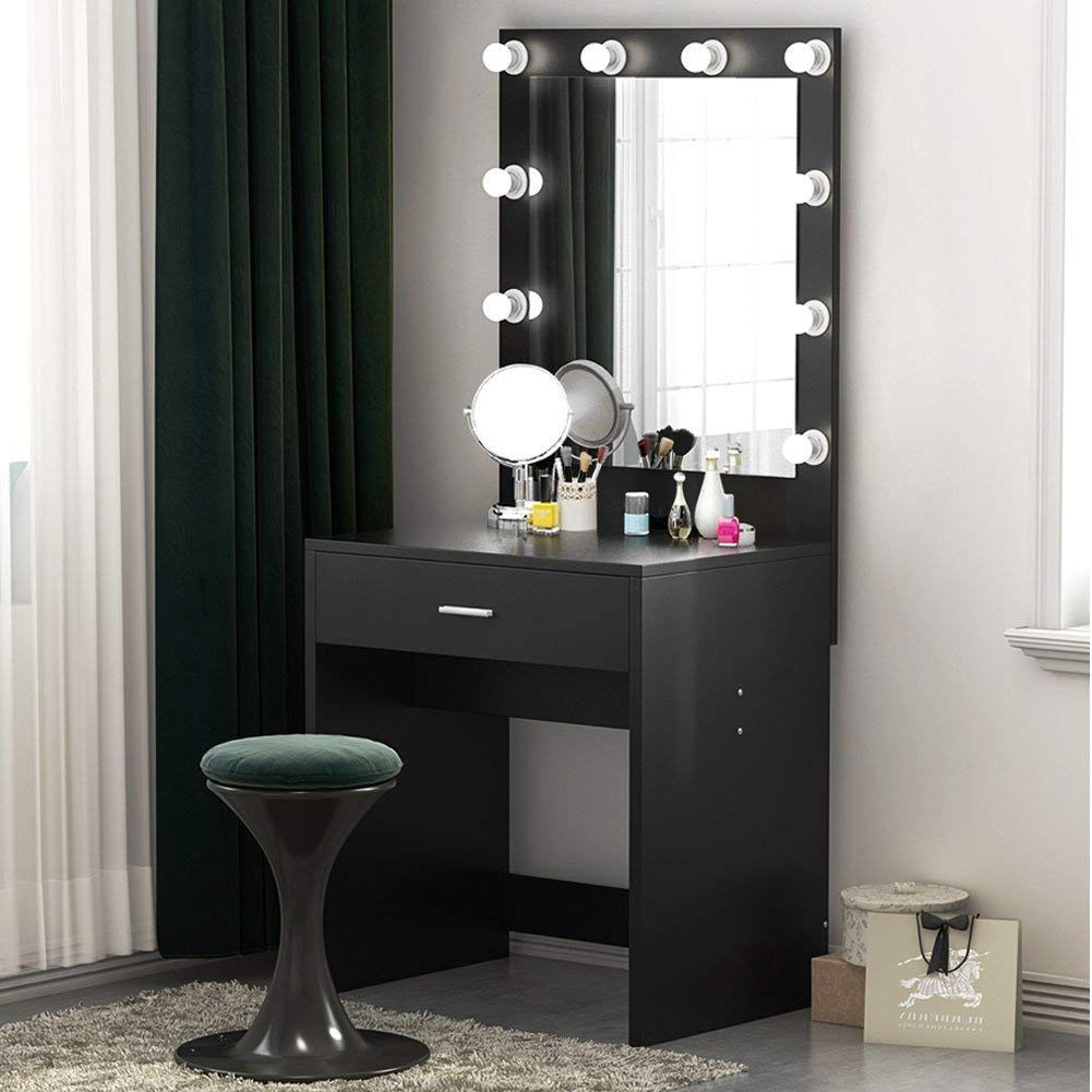 Tribesigns Vanity Set With Lighted Mirror Makeup Vanity Dressing Table Dresser Desk For Bedroom Vanity Table Set Bedroom Vanity Vanity Set