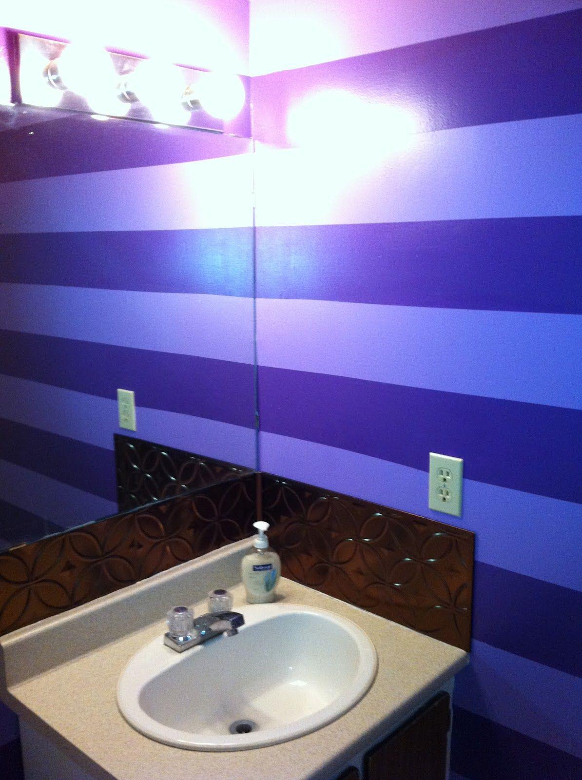 Awesome purple bathroom | Purple bathrooms, Lighted ...