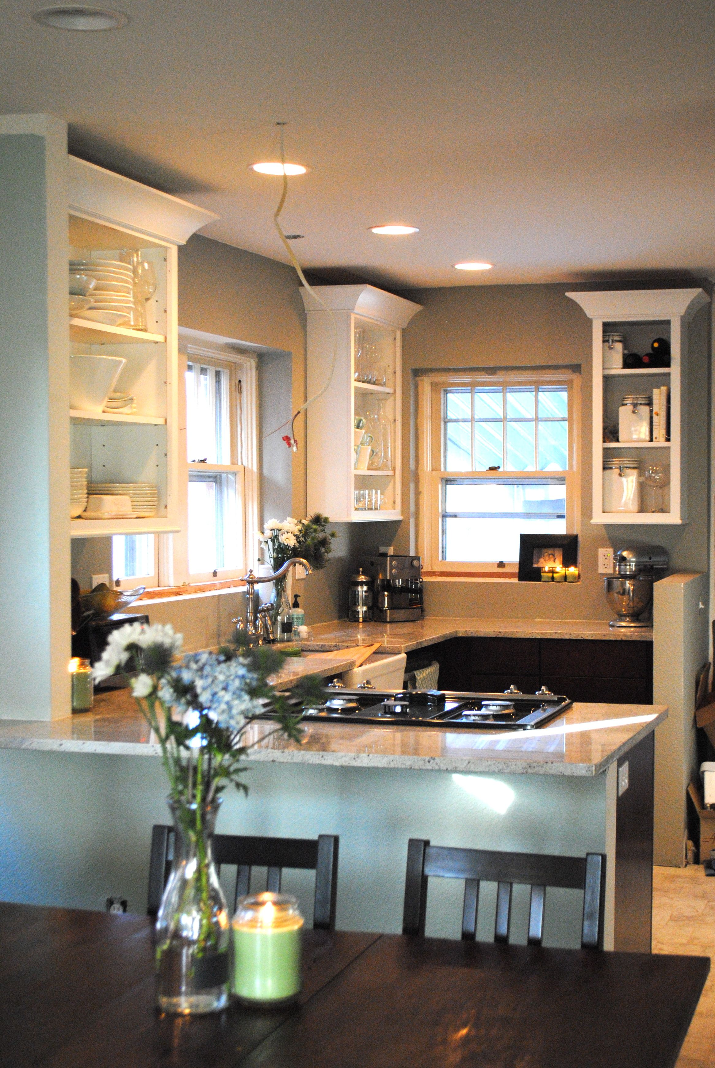 Bungalow Kitchen Bungalow Remodel To Open Up Kitchen With An Island Note Back