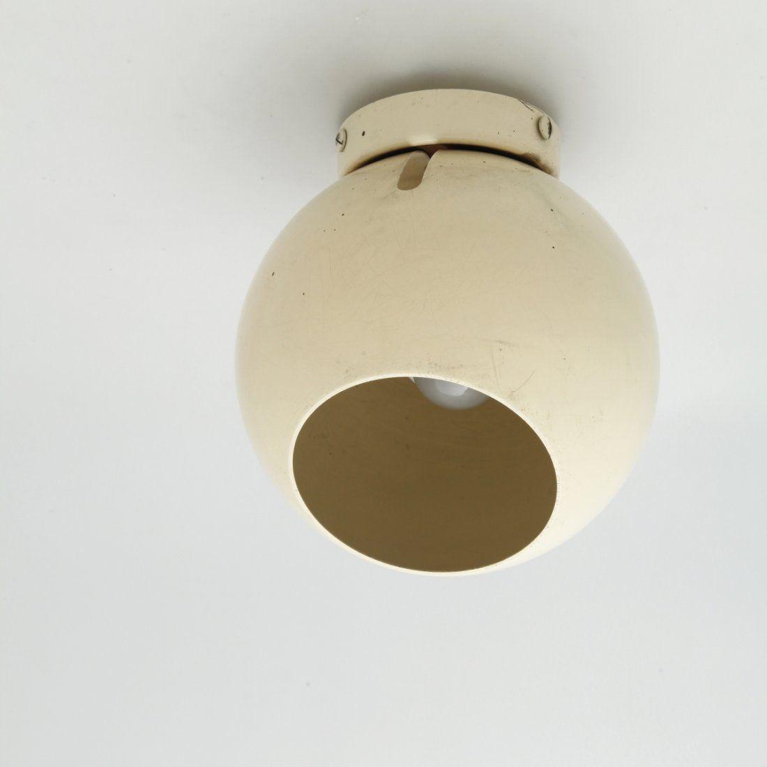 Gino Sarfatti; Enameled Aluminum Adjustable Ceiling light for Arteluce, 1972.