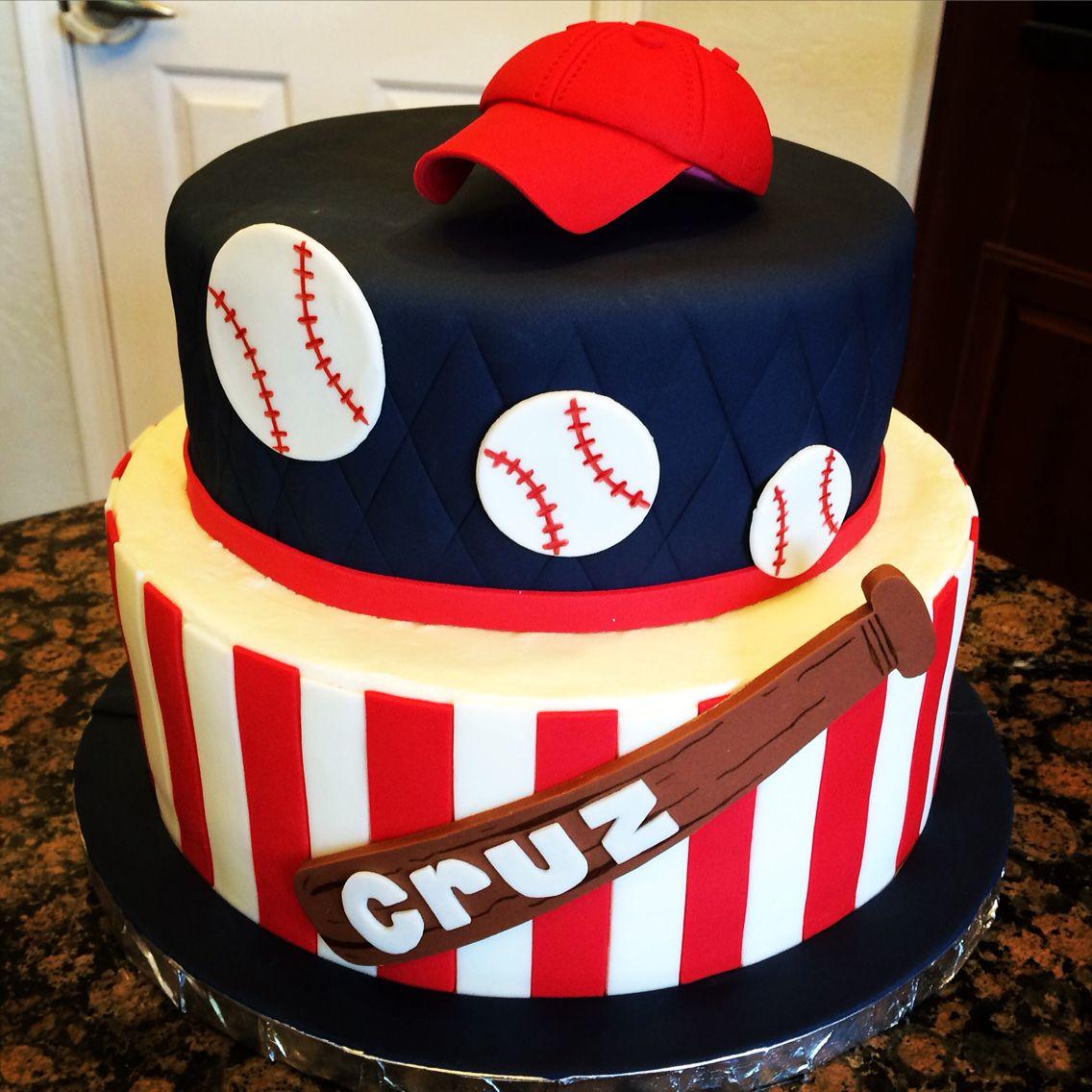 Baseball birthday cake My Cake Creations Pinterest Baseball