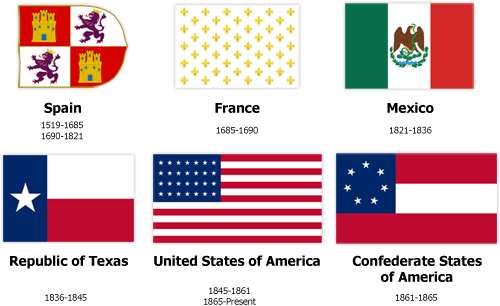The Six Flags Of Texas Historic Six Flags Over Texas Texas Flags Republic Of Texas