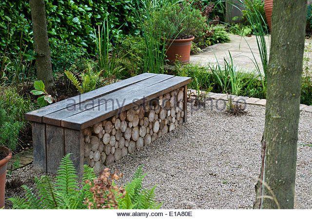 Charming Ornate Garden Bench Doubling As A Log Store E1a80e (640×449) | Yard  Ideas | Pinterest | Coastal Gardens, Yard Ideas And Gardens