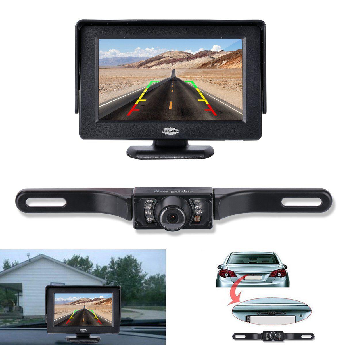 Backup Camera And Monitor Kit, Chuanganzhuo License Plate