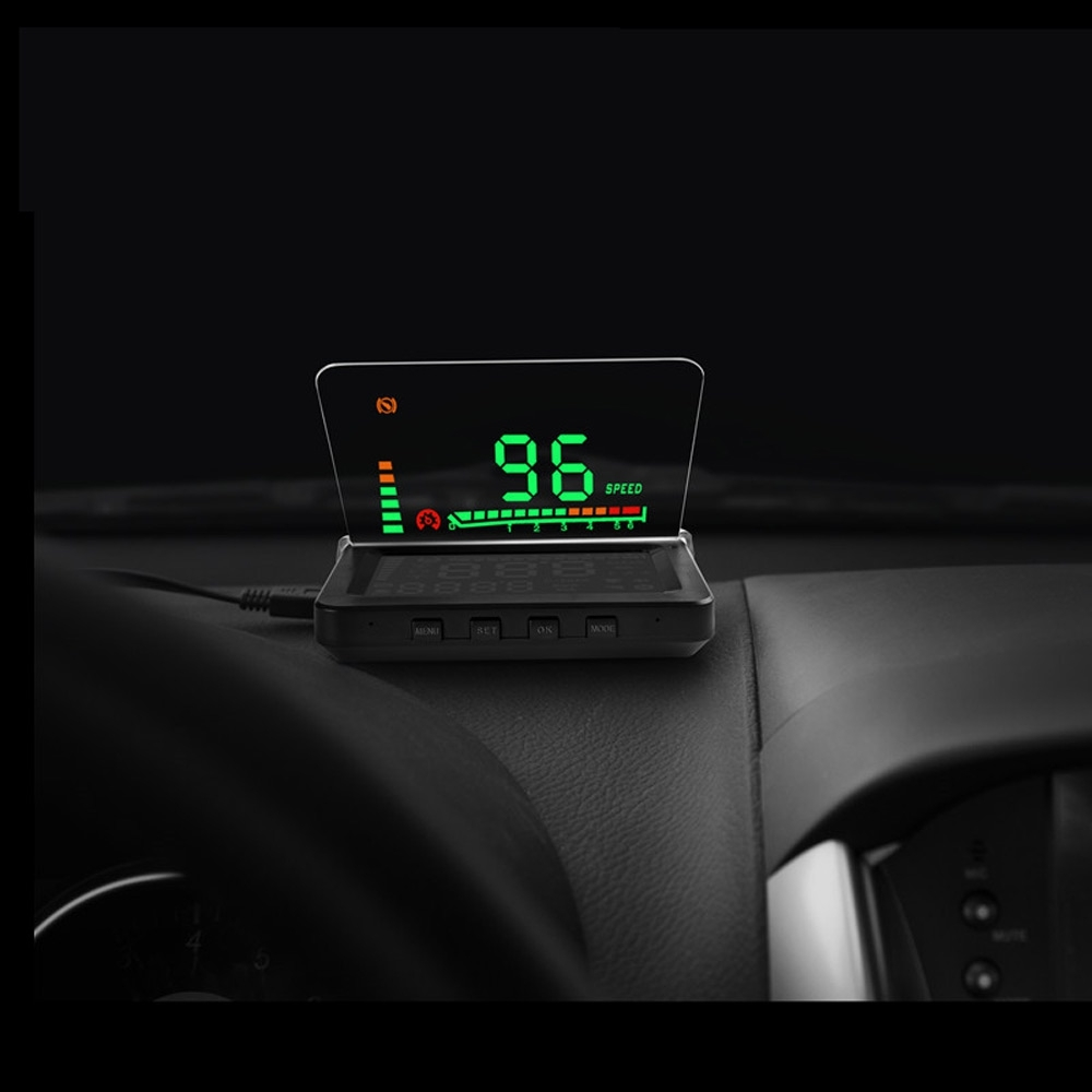 52.86$  Watch here - http://alii4o.worldwells.pw/go.php?t=32757942346 - Universal 4 Inch Car HUD Head Up Display Board OBDII Interface Display Speed/Temperature/Voltage Free Switch with Alarm Features