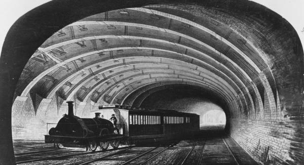 london underground 1863 london vintage views. Black Bedroom Furniture Sets. Home Design Ideas
