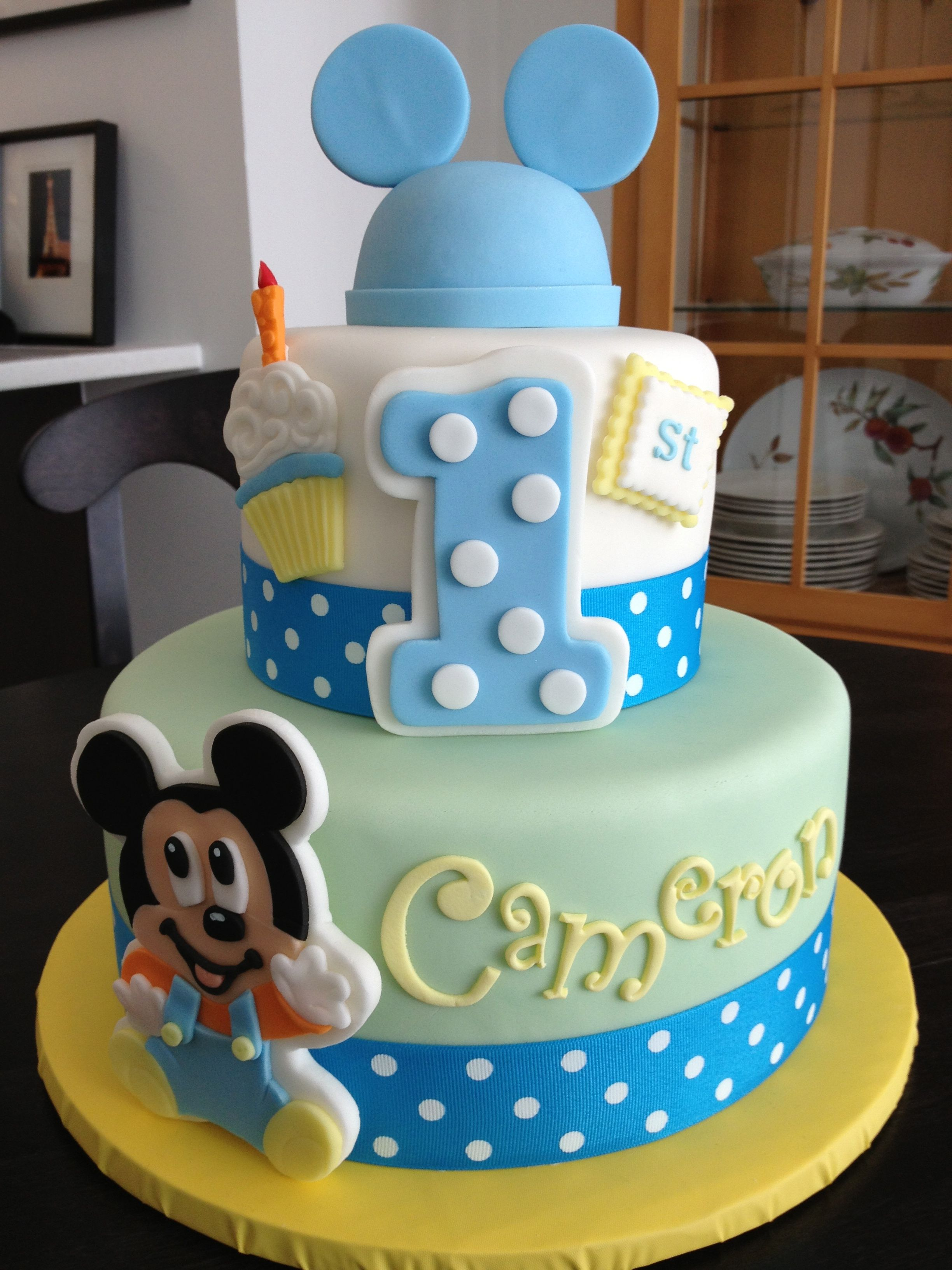 The Mickey First Birthday Cake Sweet Marys New Haven Ct