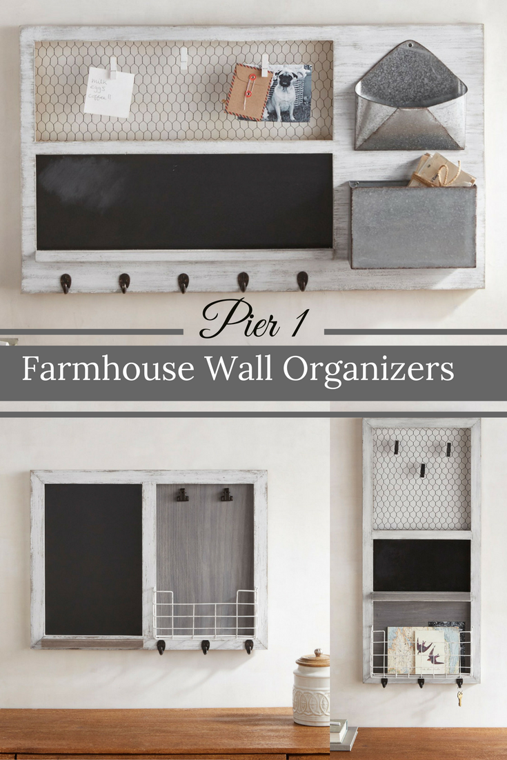 wall organizers home office. Perfect Farmhouse Command Center Pieces Or Just For Single Organization Of Keys And Notes, Etc. | Rustic Wall Decor #ad #pier1 Organizers Home Office S