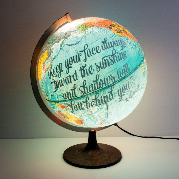 Italian Street Artist Caiffa Cosimo Also Known As Cheone Creates Eye Catching Street Art Featuring Optical Ill Painted Globe Vintage Globe Hand Painted Globe