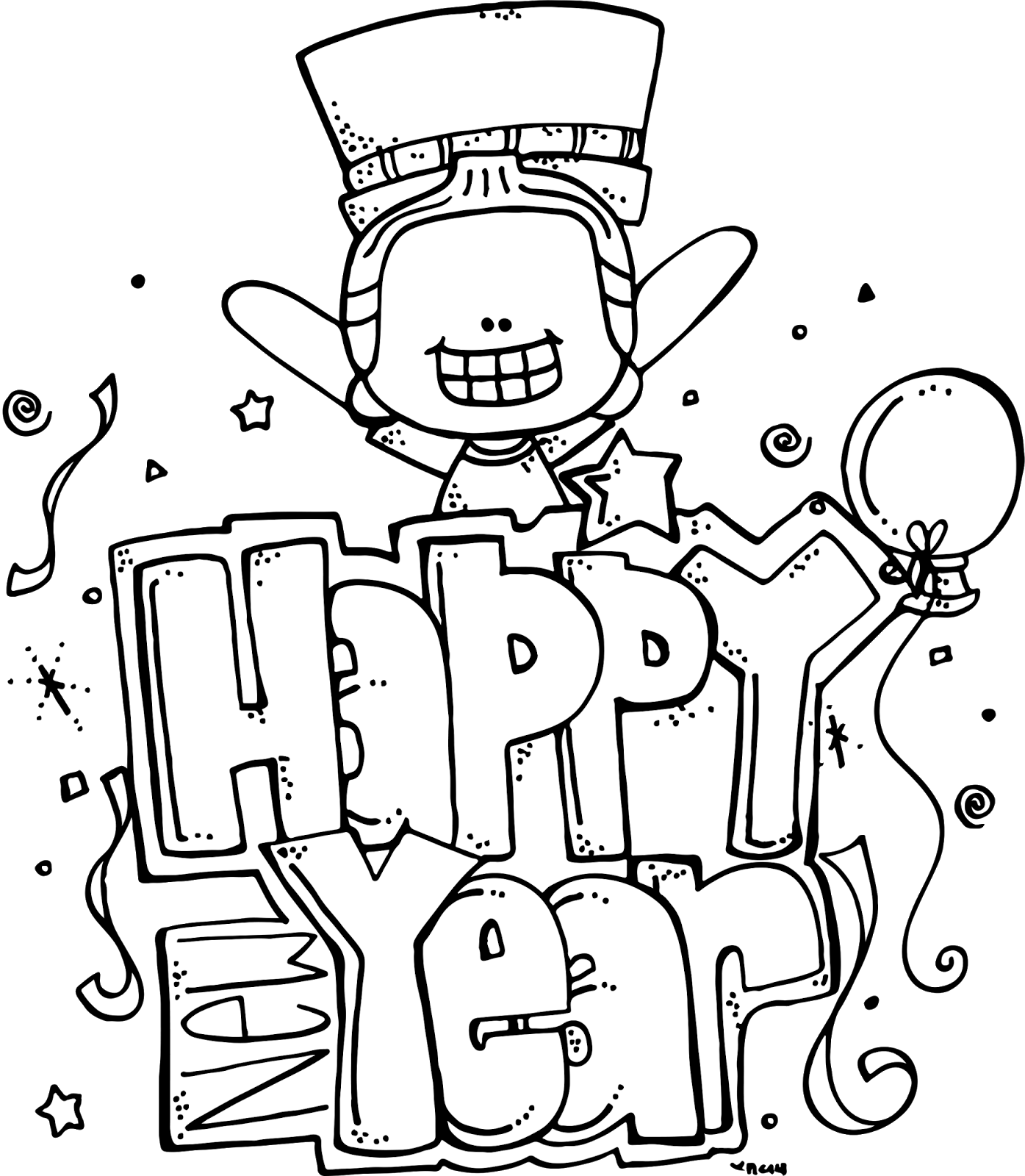 Melonheadz Illustrating Happy New Year Freebie