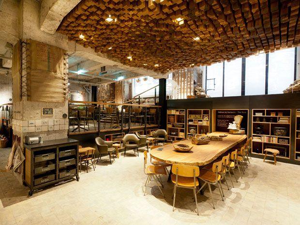 Starbucks Rembrandtplein . Amsterdã . Holanda | . #INTÉRIEUR ...
