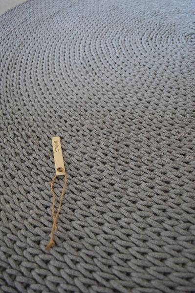 Ręcznie robiony dywan 150 cm jasny szary - Flokett - Tekstylia