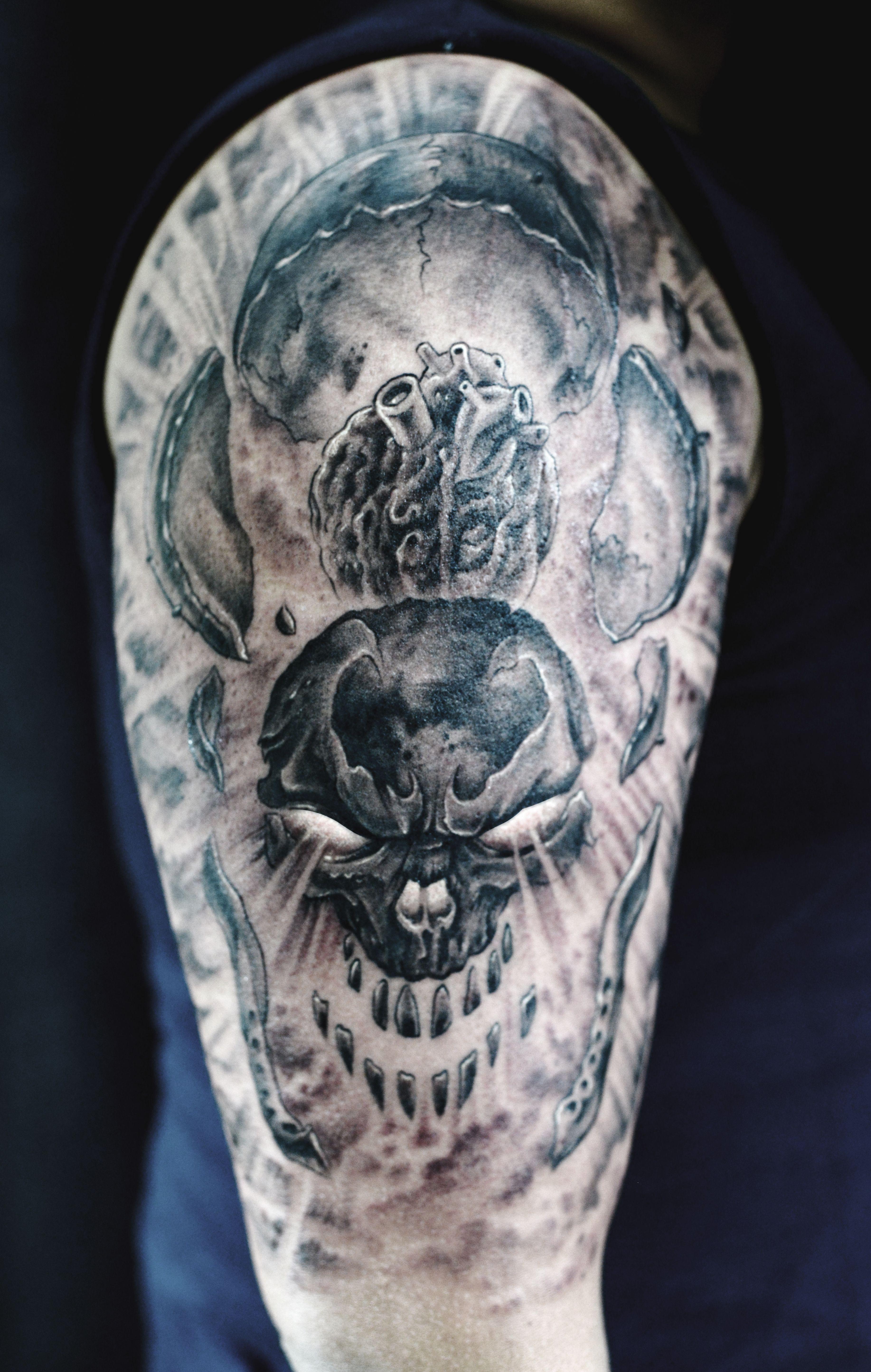 Skull Sleeve Tattoo Download Half Sleeve Sugar Skull