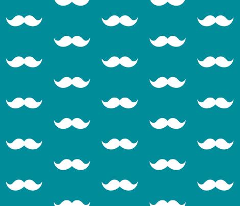 Teal Mustaches Fabric By Tupelo Honey Fabrics On Spoonflower Custom Fabric Pjmesser Please Make Me A Q Mustache Wallpaper Mustache Fabric Scrapbook Patterns