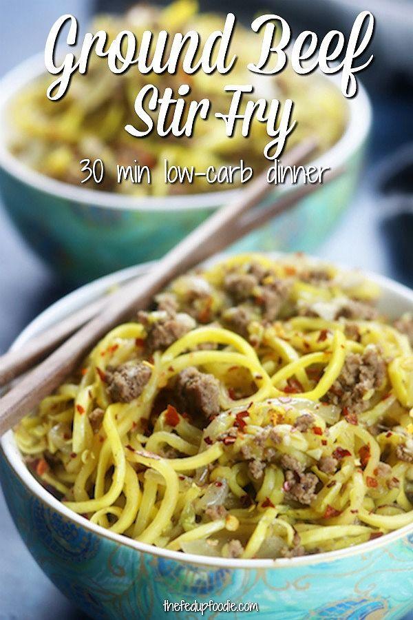 Ground Beef Stir Fry This Is So Easy To Make On A Busy