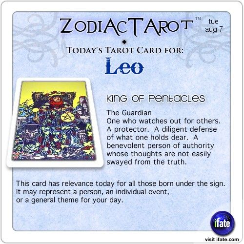 Daily Tarot Card For Leo From Zodiactarot You Can Get A Free Astro