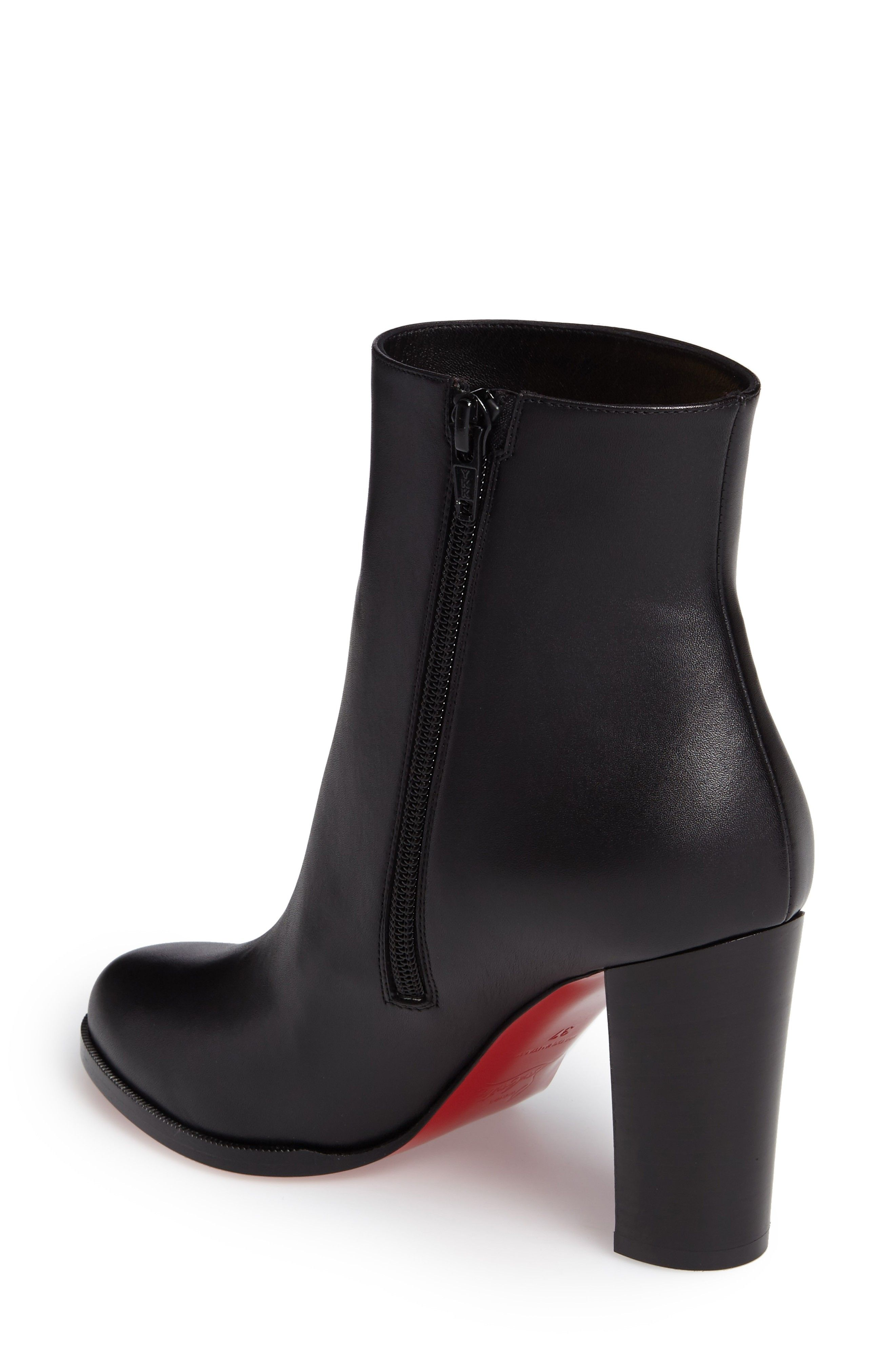 b9e0ea60486 CHRISTIAN LOUBOUTIN Adox Leather 85Mm Red Sole Ankle Boot