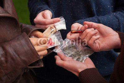 Drug dealer selling drugs