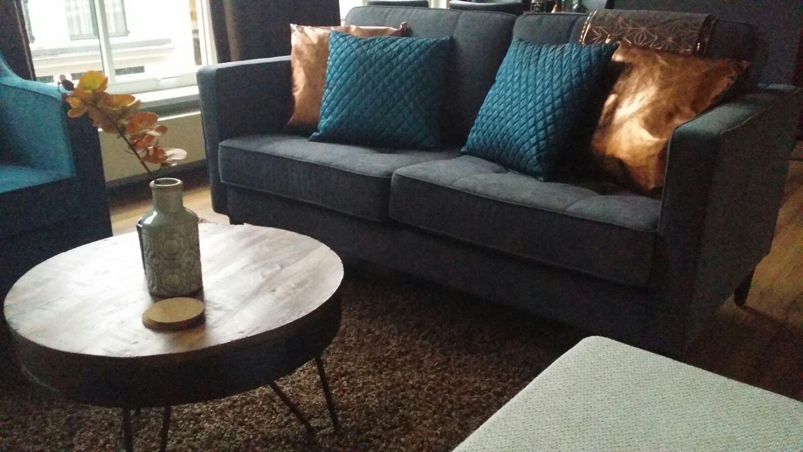 Sweet Sofa! Grey, Petrol Blue & Copper