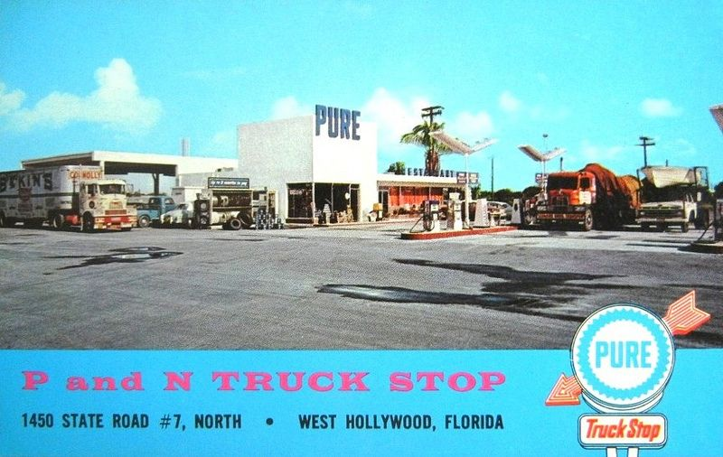 Pure Truck Stop West Hollywood Fl 1960 S Flickr Photo