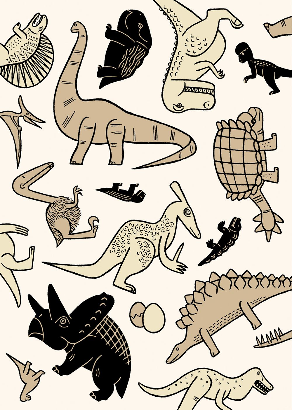Original wrapping paper on behance in 2019 dinosaur wallpaper dinosaur images illustration art - Paperboy dinosaur wallpaper ...
