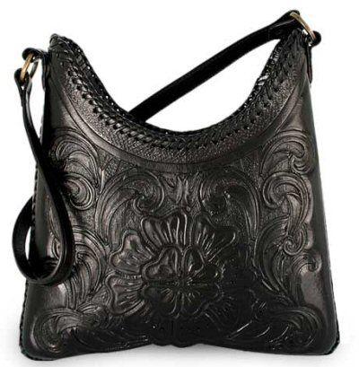 Leather Purses and Handbags | ... flower leather handbag Eduardo ...