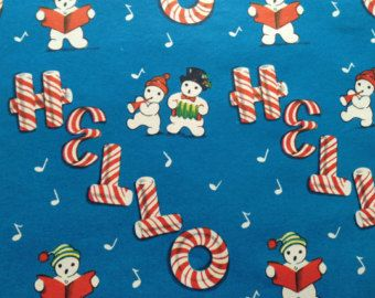 disney christmas wrapping paper vintage christmas wrapping paper peppermint candy hello and caroling