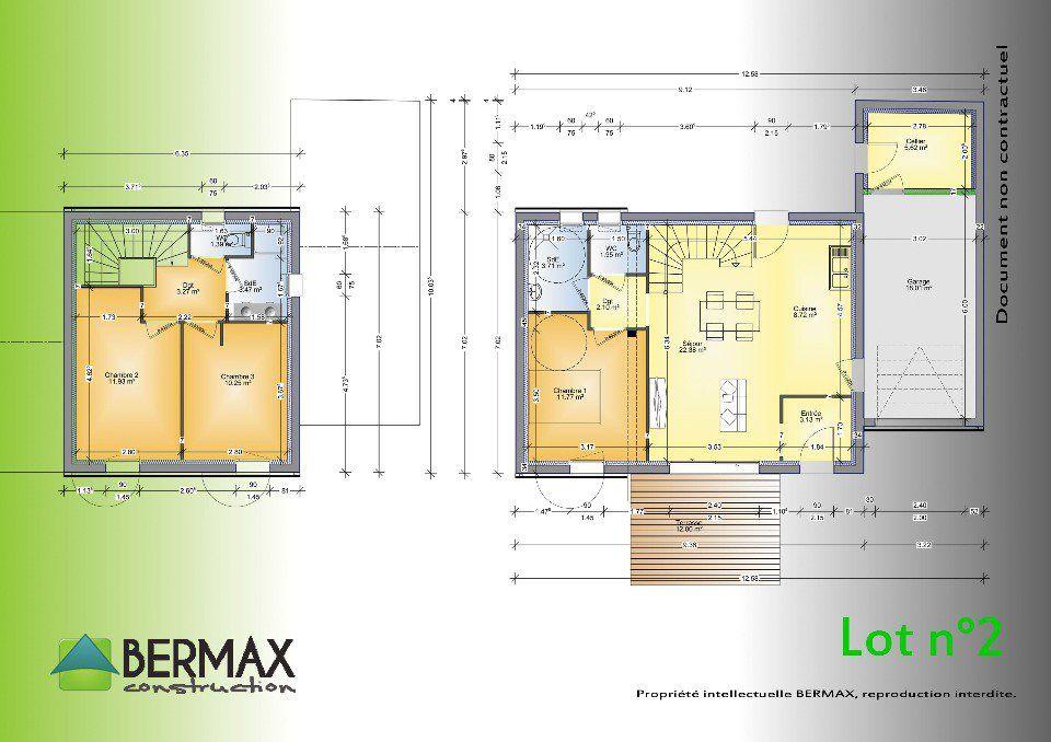 Plan achat maison neuve à construire - Bermax MAISON TRADITIONNELLE - logiciel pour faire plan de maison