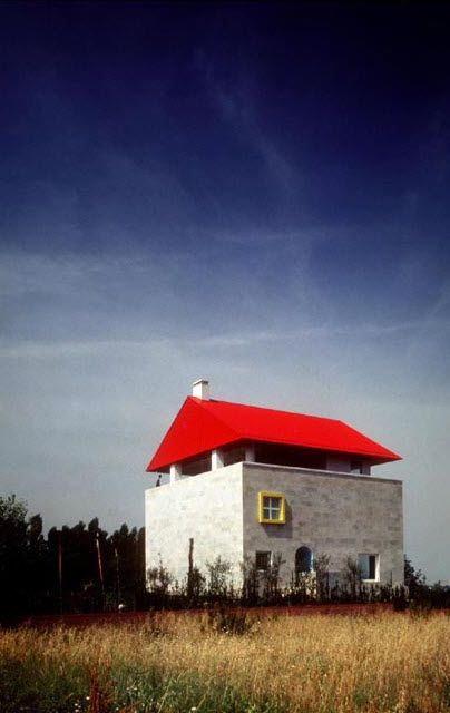 Cei House, Empoli, Italy (1991-93) designed by Italian architect & designer Ettore Sottsass (1917-2007). via openhouse