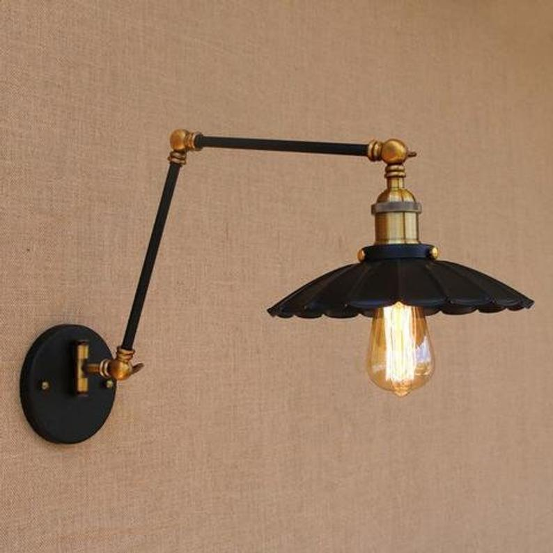 Wall Light Lamp Sconce Fixture Retro Light Industrial Light Etsy In 2020 Adjustable Wall Lamp Wall Lights Swing Arm Wall Lamps