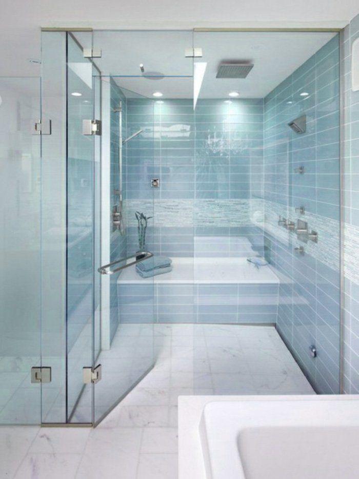 40 idee di bagno in blu e bianco | Piastrelle blu, Blu chiaro e ...
