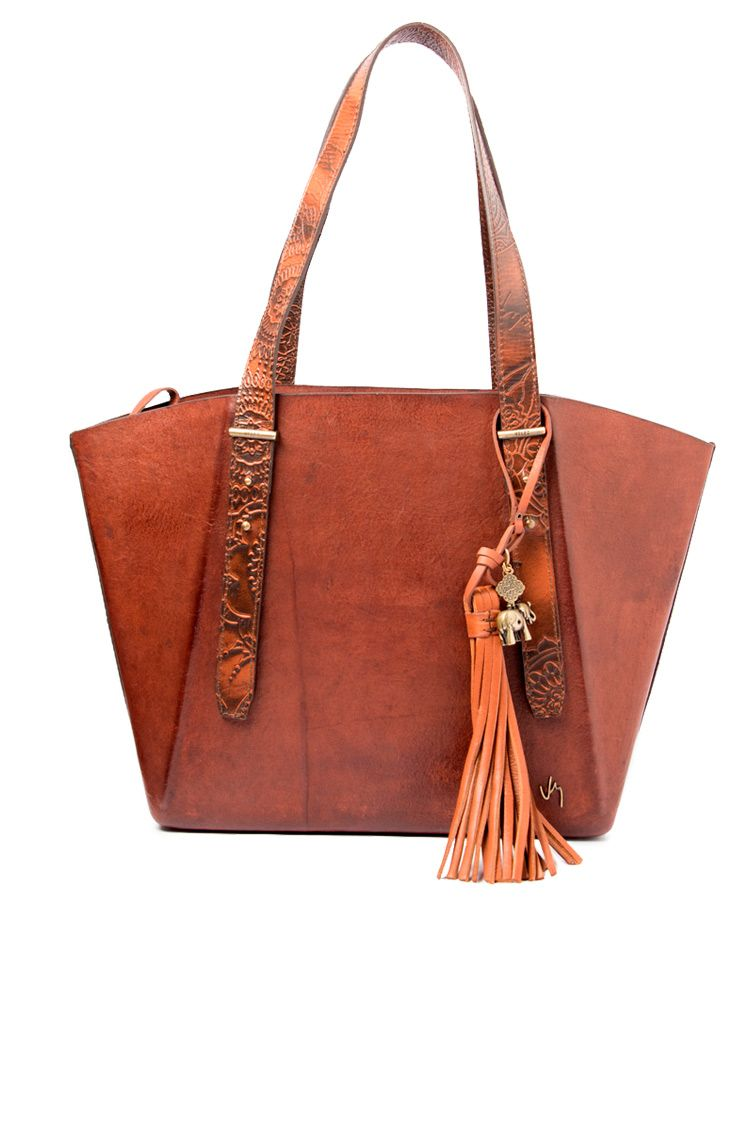 843087e59a6 Bolso shopping de cuero para mujer 4430