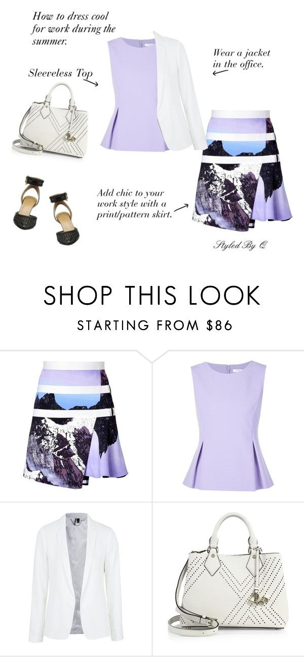 """""""Dress Cool For Work!"""" by quintan ❤ liked on Polyvore featuring Peter Pilotto, Diane Von Furstenberg, Topshop and Nine West"""