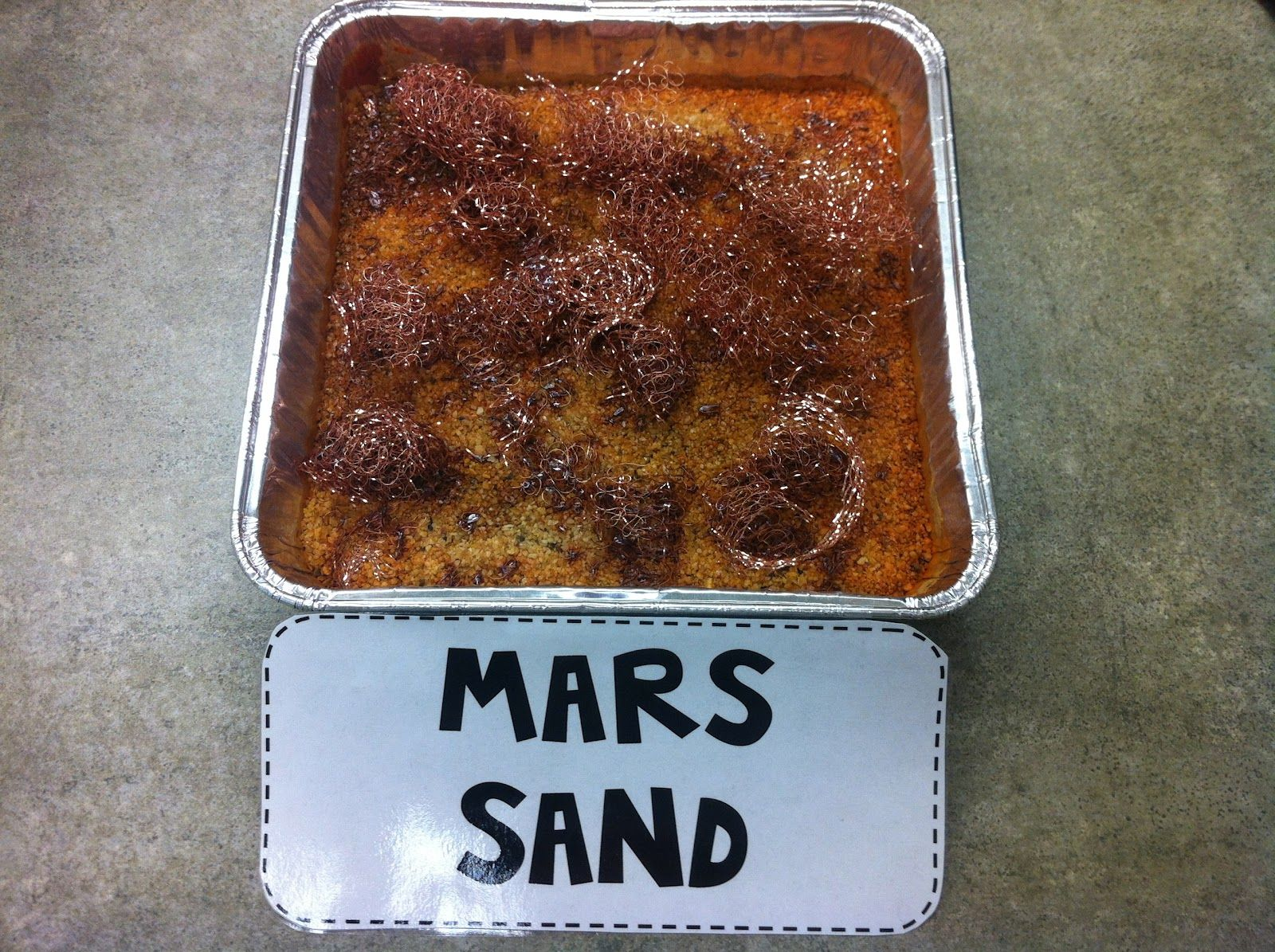 Mars Sand White Sand And Steel Wool Let It Sit In
