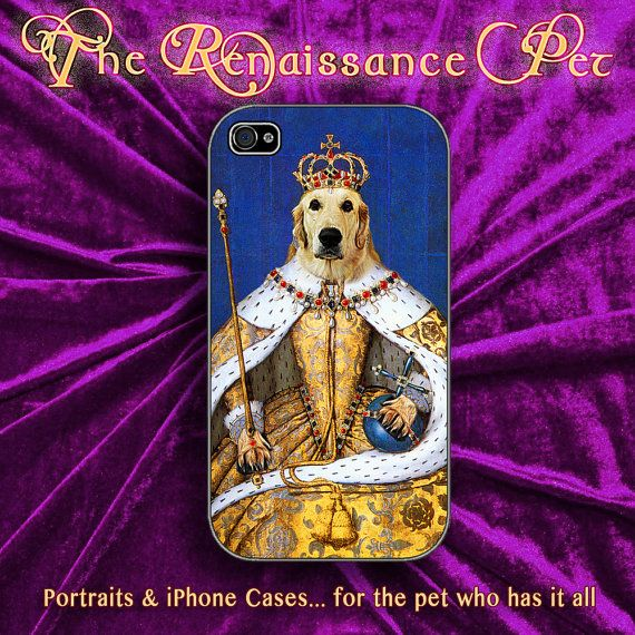 Custom Renaissance Pet Portraits - iphone case available iPhone 4, iPhone 4s, iPhone 5 / 5S / 5C, Samsung Galaxy II and III. ...and iPhone 6
