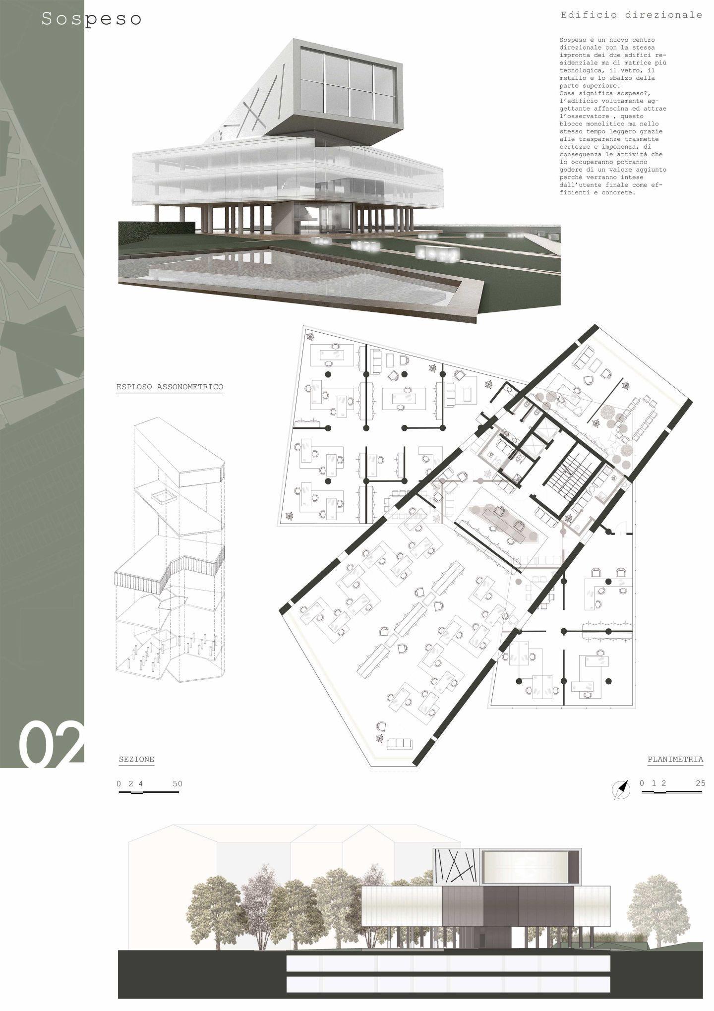 Complesso direzionale residenziale brescia your for Progetti architettura on line