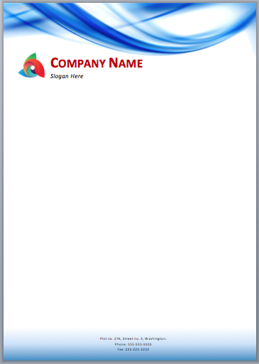 Here Is A Blue Waves Letterhead Template That Can Be Used By Art