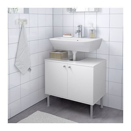 FULLEN Waschbeckenunterschrank, 2 Türen, weiß weiß 60x55 cm ...