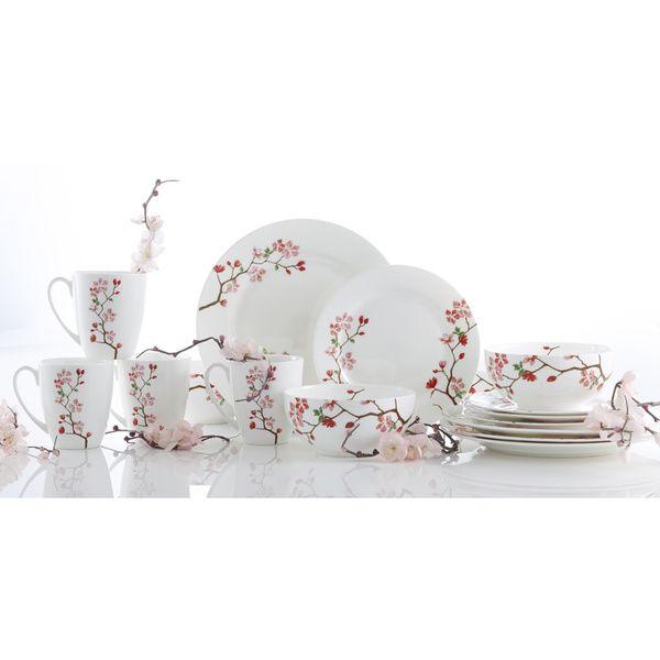 Formal Dinnerware For Less. Modern DinnerwareChina DinnerwareDinnerware SetsJapanese ...  sc 1 st  Pinterest & Roscher 16-piece Cherry Blossom Bone China Dinnerware Set ...