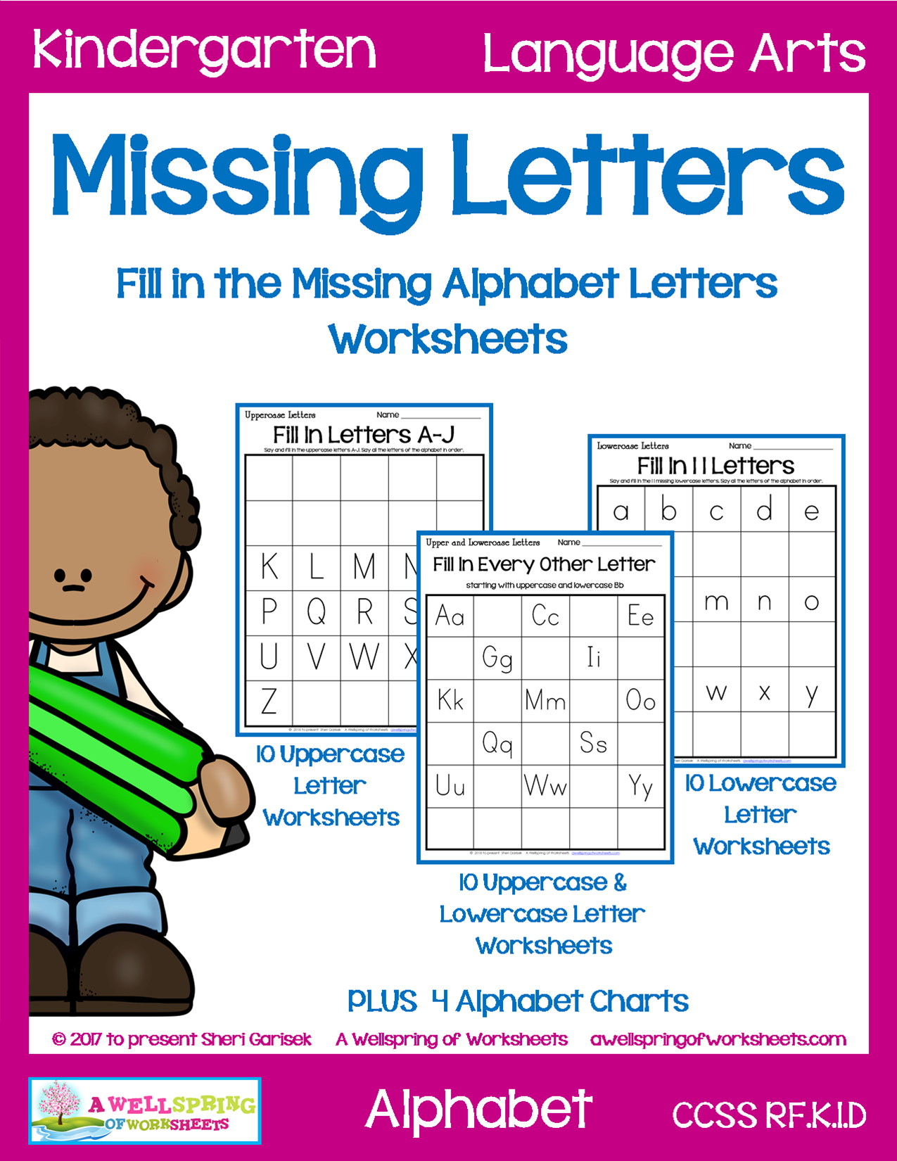 Missing Letters Worksheets
