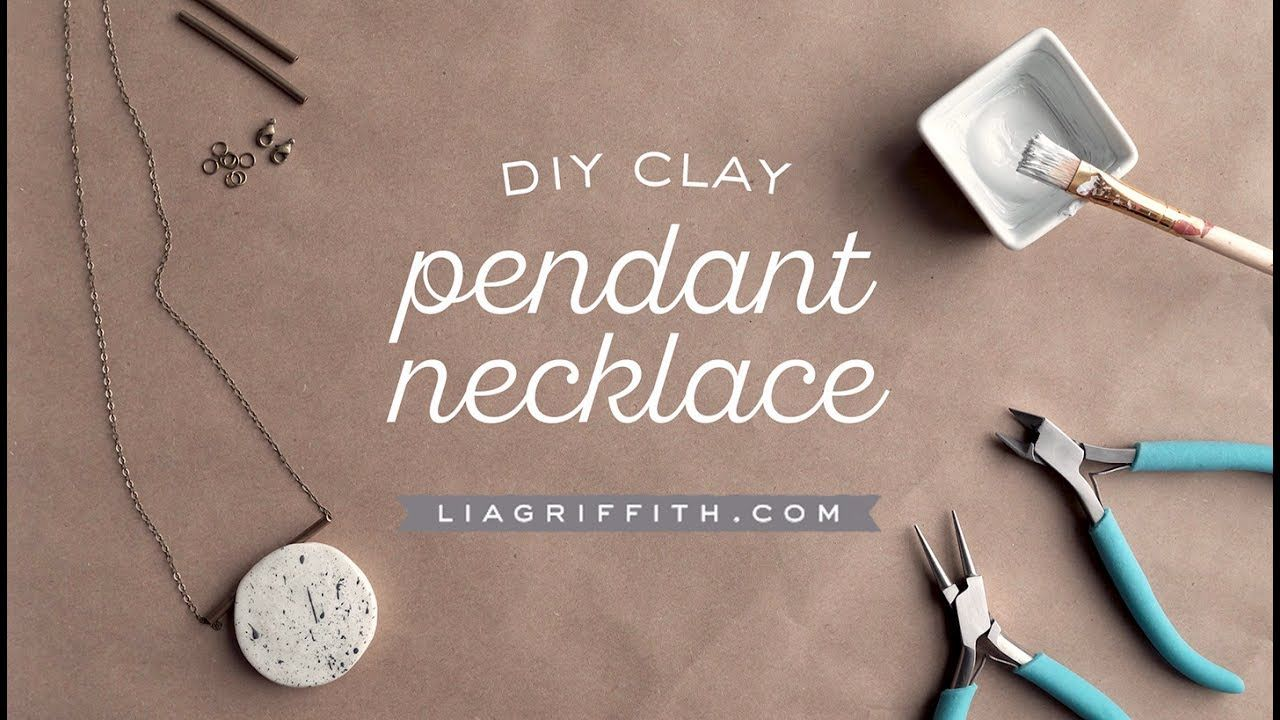 1c1db193767e6 DIY Polymer Clay Necklace Video Tutorial by www.LiaGriffith.com ...