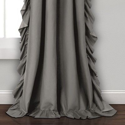 84 X54 Reyna Light Filtering Window Curtain Panels Gray Lush
