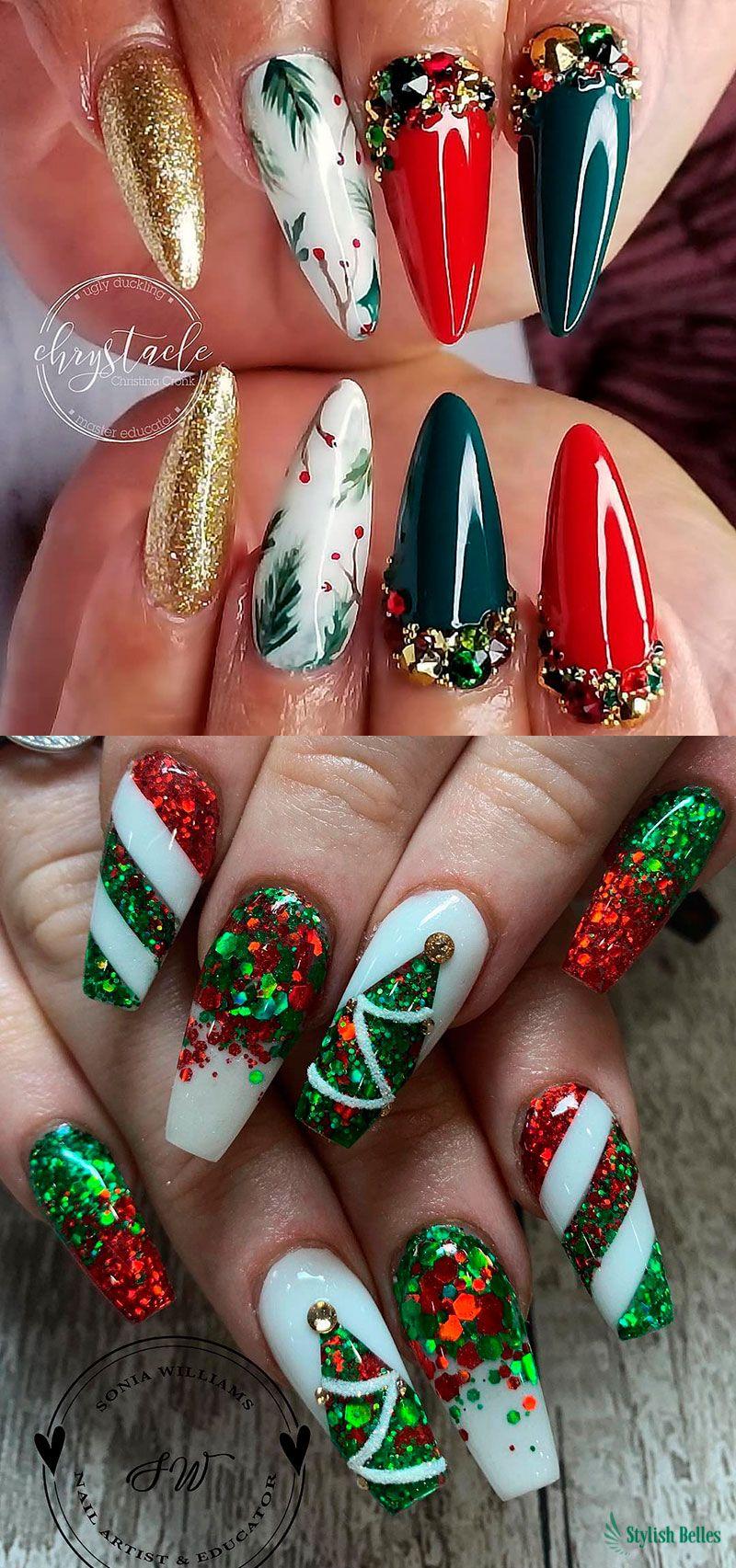 Cute Christmas Nails ideas for Celebration! #christmasnails #christmasnailart #christmasnaildesign #Christmas2018 #nailideas