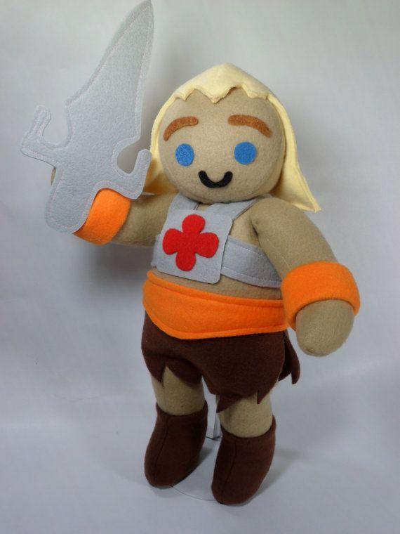 HeMan Masters of the Universe Cuddly Plush Toy by HandmadeStuffs. , via Etsy.