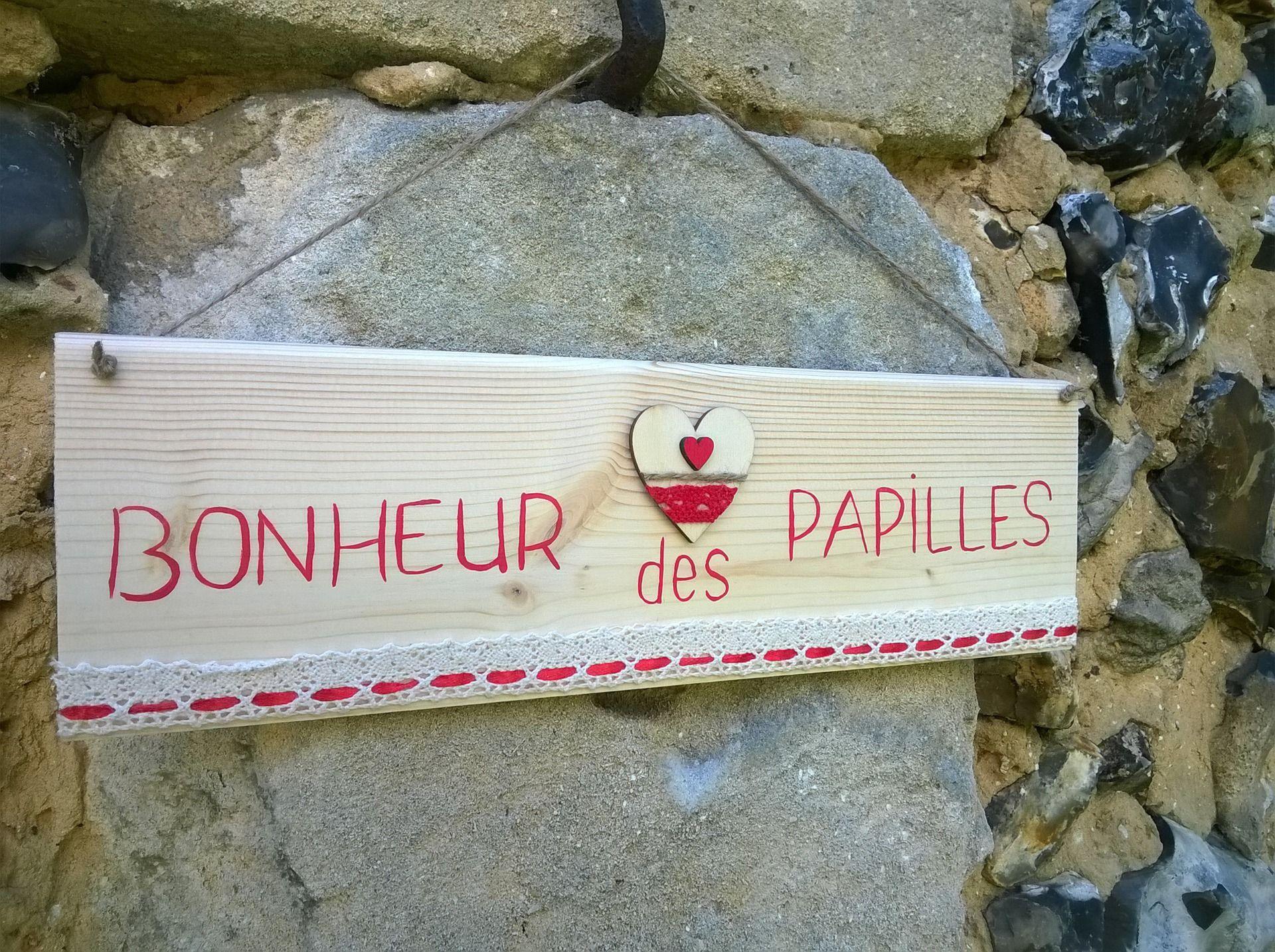 """pancarte cuisine """"bonheur des papilles"""" : Décorations murales par"""