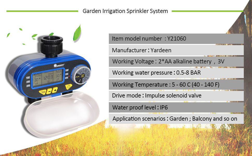 Pin By Yardeen Store On Water Timer Controller Garden Irrigation Water Timer Irrigation Garden Irrigation