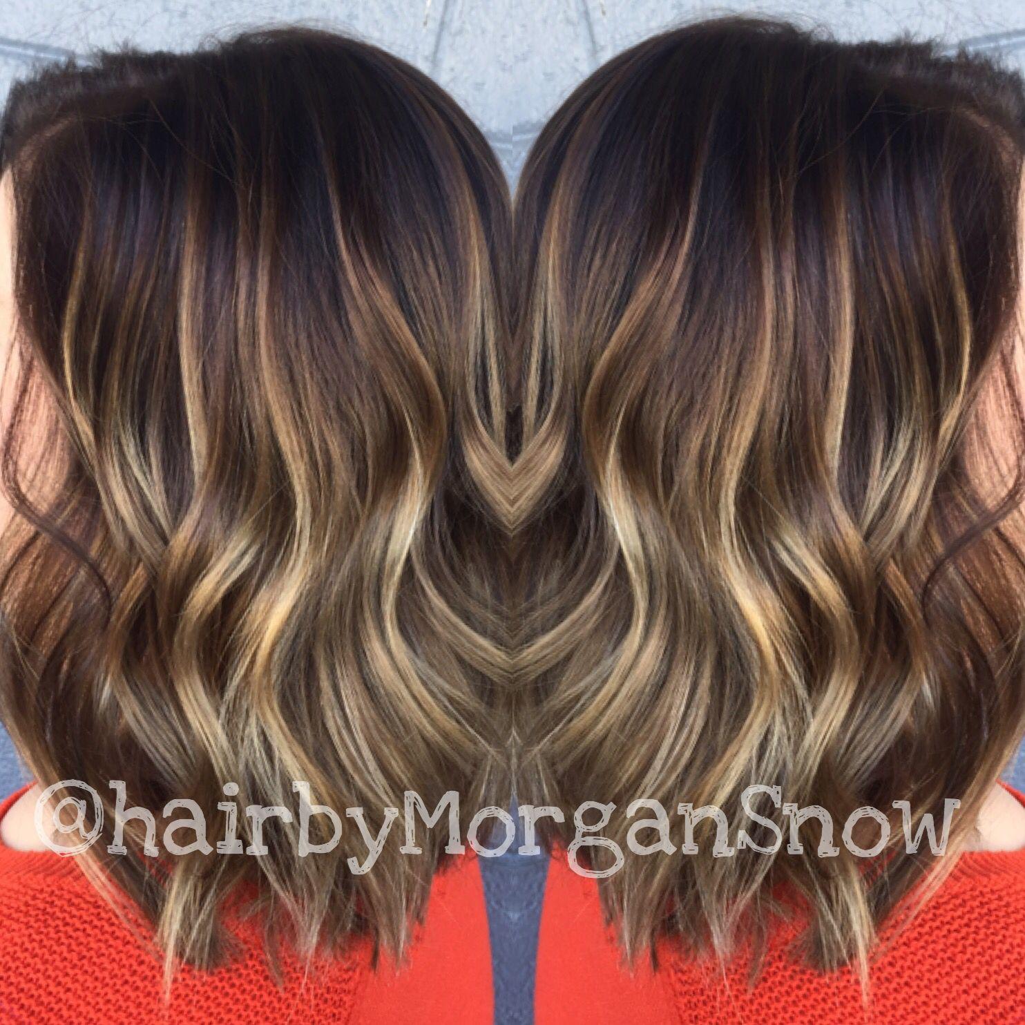Dark to light blonde balayaged bob haircut. Hair painting. Shadow root.  Balayage.