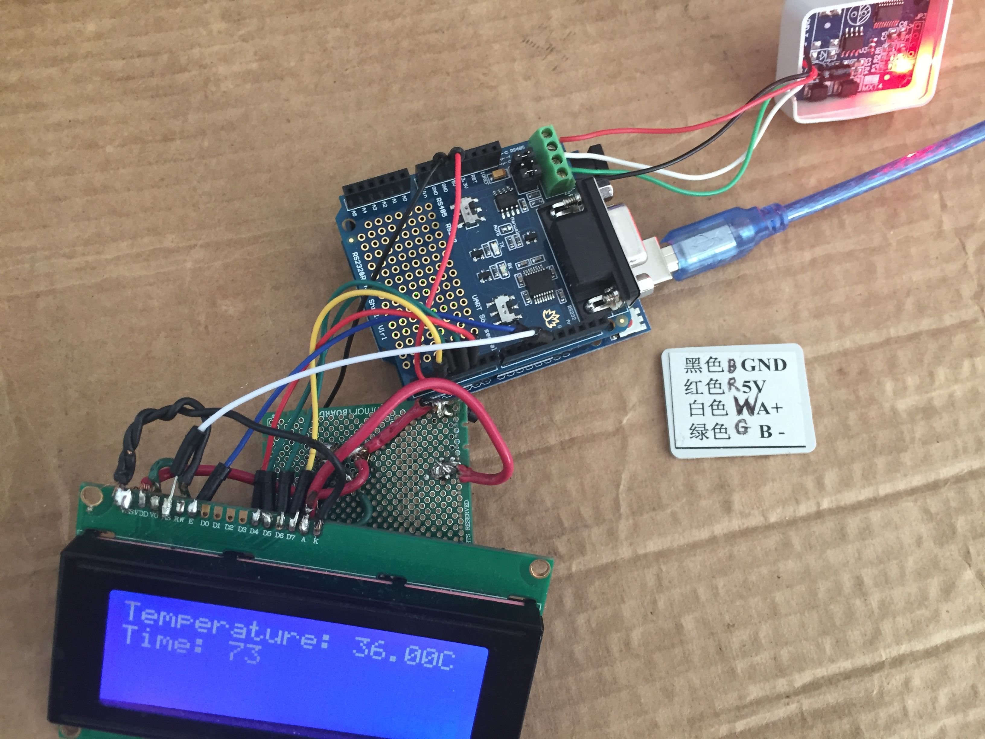 Using An Arduino To Read A Simple Modbus Rtu Rs 485 Temperature Sensor Circuit