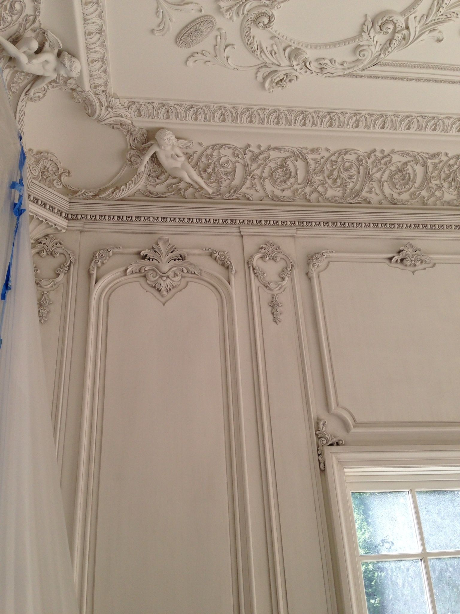 Hand Carved Boiserie Living Room By Auffrance With Plaster