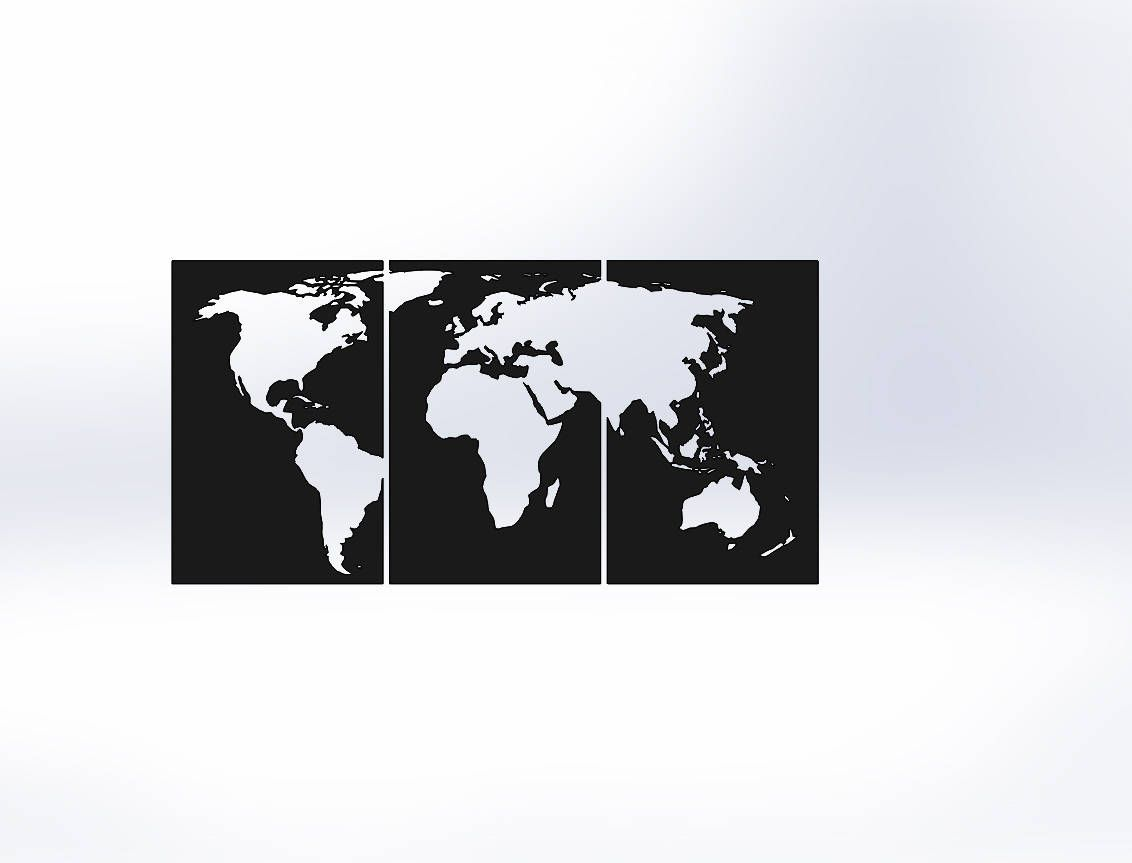 Modern 4x8 metal world map by lebraundesign on etsy ideas for modern 4x8 metal world map by lebraundesign on etsy gumiabroncs Images